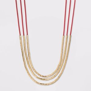 Beads Multilayer Cord Necklace - A New Day